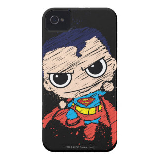 Mini Superman Sketch - Flying iPhone 4 Cases