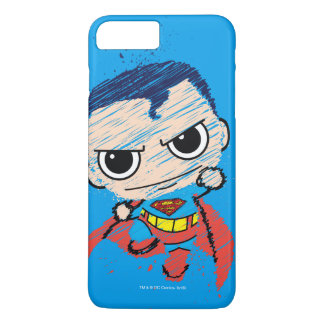 Mini Superman Sketch - Flying iPhone 7 Plus Case
