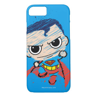 Mini Superman Sketch - Flying iPhone 8/7 Case