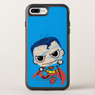 Mini Superman Sketch - Flying OtterBox Symmetry iPhone 7 Plus Case