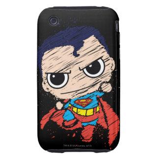 Mini Superman Sketch - Flying Tough iPhone 3 Case