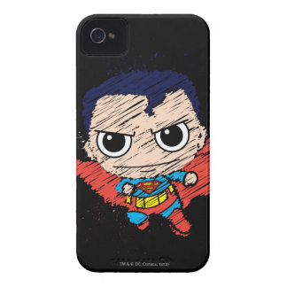 Mini Superman Sketch iPhone 4 Covers
