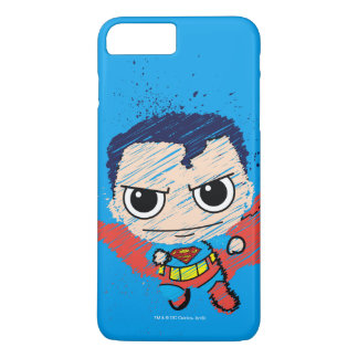 Mini Superman Sketch iPhone 7 Plus Case