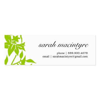Mini télécartes de jolie fleur de mod cartes de visite personnelles