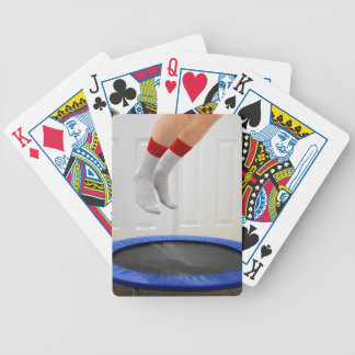 Mini Trampoline Jumping Bicycle Playing Cards