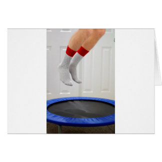 Mini Trampoline Jumping Card