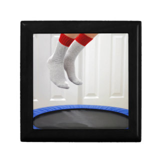 Mini Trampoline Jumping Gift Box