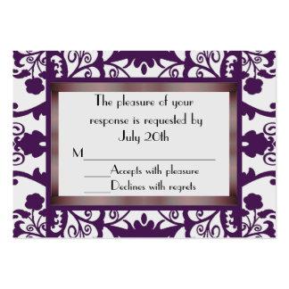 Mini Wedding Response Cards Large Business Card