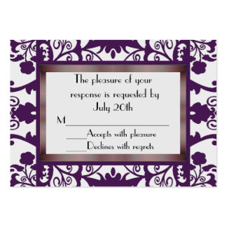 Mini Wedding Response Cards Pack Of Chubby Business Cards