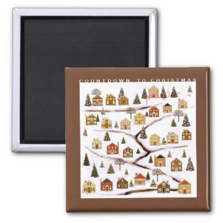 Miniature Advent Calendar Magnet