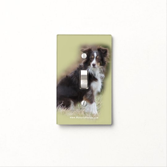 Miniature Australian Shepherd Light Switch Cover