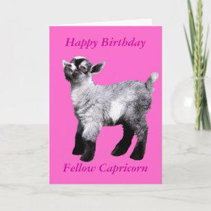 With Baby Goat Birthday Cards Zazzle Ca