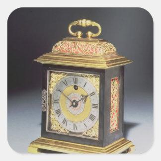 Miniature bracket clock square sticker