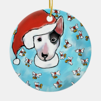 Miniature Bull Terrier Ceramic Ornament