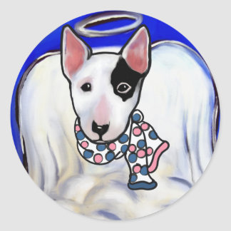 Miniature Bull Terrier Classic Round Sticker