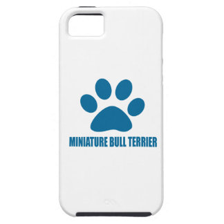 MINIATURE BULL TERRIER DOG DESIGNS iPhone 5 COVERS
