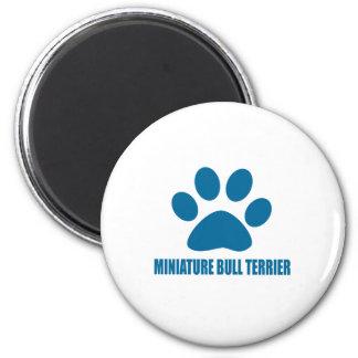 MINIATURE BULL TERRIER DOG DESIGNS MAGNET
