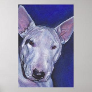 Miniature Bull Terrier Fine Art Print Poster