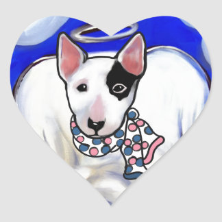 Miniature Bull Terrier Heart Sticker