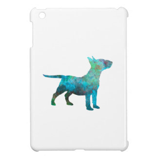 Miniature Bull terrier in watercolor Case For The iPad Mini
