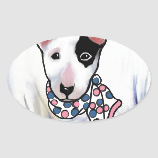 Miniature Bull Terrier Oval Sticker