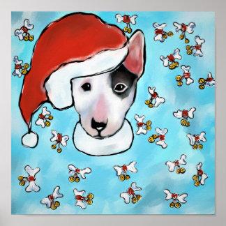 Miniature Bull Terrier Poster