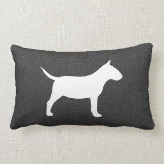 Miniature Bull Terrier Silhouette Lumbar Pillow