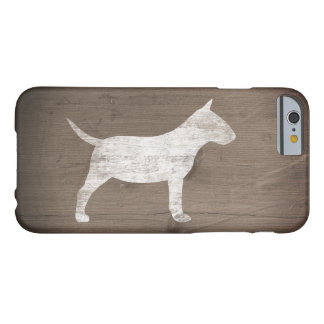 Miniature Bull Terrier Silhouette Rustic Barely There iPhone 6 Case