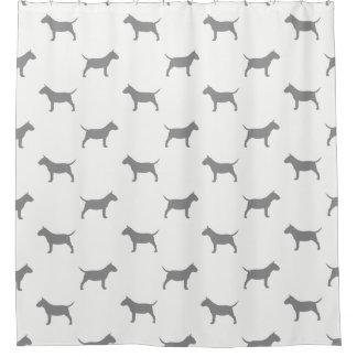 Miniature Bull Terrier Silhouettes Pattern