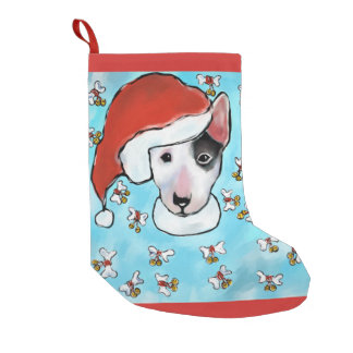 Miniature Bull Terrier Small Christmas Stocking
