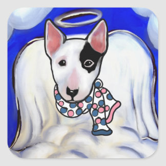 Miniature Bull Terrier Square Sticker