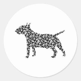 Miniature Bull Terrier Round Stickers