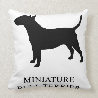 Miniature Bull Terrier Throw Pillow