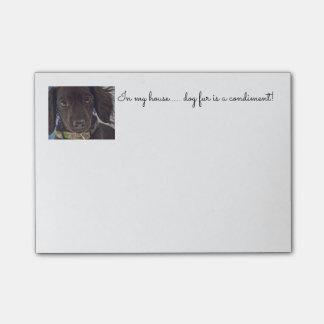 miniature dachshund whimsical note pad