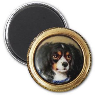 MINIATURE DOG PORTRAITS Tricolor Spaniel Magnet
