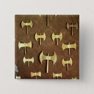 Miniature double axes 2 inch square button