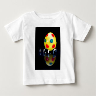 Miniature figurines painting yellow easter egg baby T-Shirt