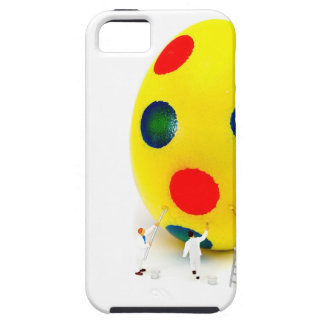 Miniature figurines painting yellow easter egg case for the iPhone 5