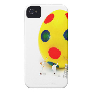 Miniature figurines painting yellow easter egg iPhone 4 Case-Mate case