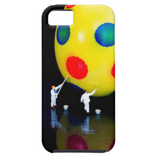 Miniature figurines painting yellow easter egg iPhone 5 covers