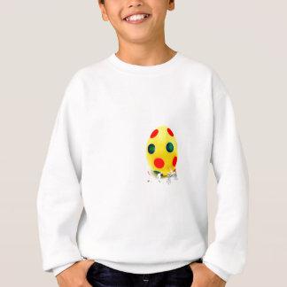 Miniature figurines painting yellow easter egg sweatshirt