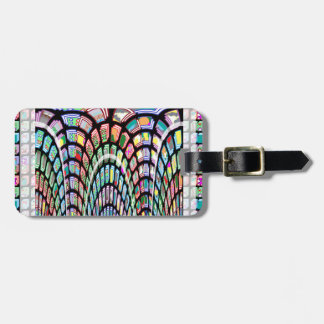 Miniature FineArt Abstract Wave Pattern on gifts Luggage Tag