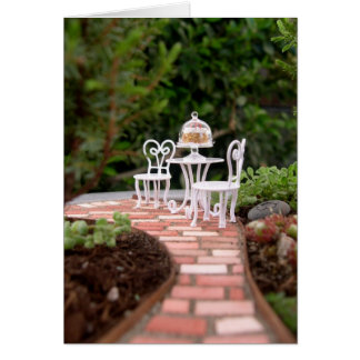Miniature Garden Vignette, Blank Card