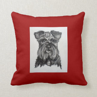 Miniature German Schnauzer Throw Pillow