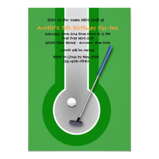 Miniature Golf Birthday Party Invitation
