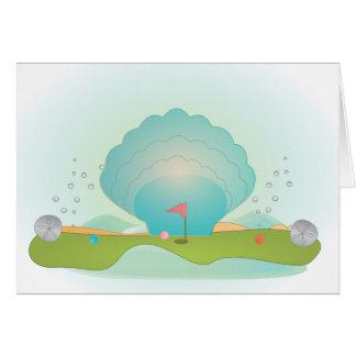 Miniature Golf Course Hole No.9 Card