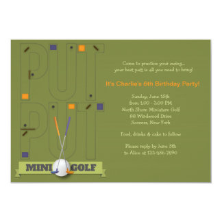 Miniature Golf Invitation