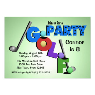 Miniature Golf Party Personalized Announcement