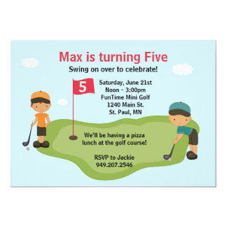 Miniature Golf Party Invitation