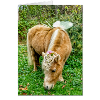 miniature horse fairy card